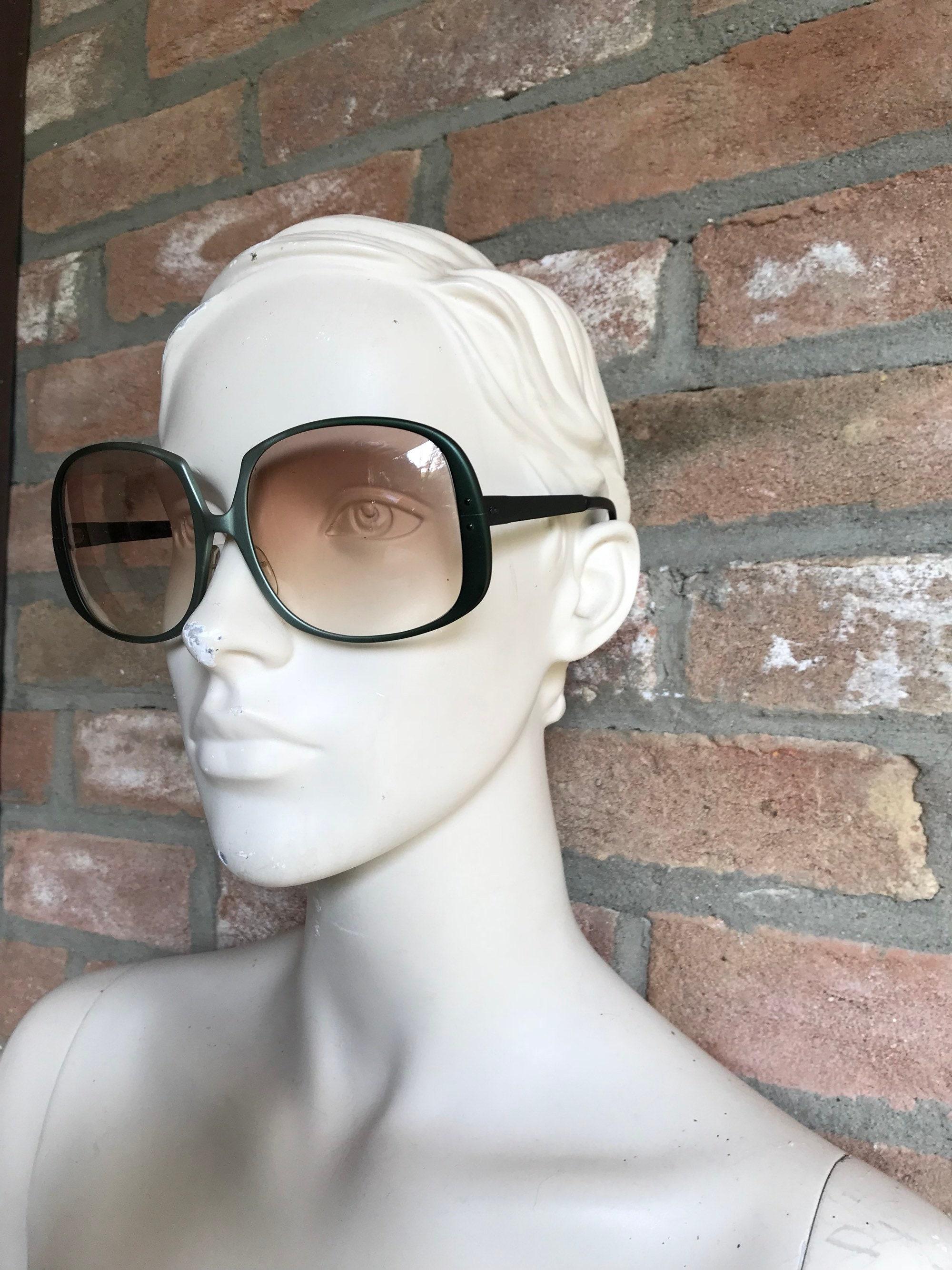 Gafas de sol de gran tamaño gafas de mujer metal satinado