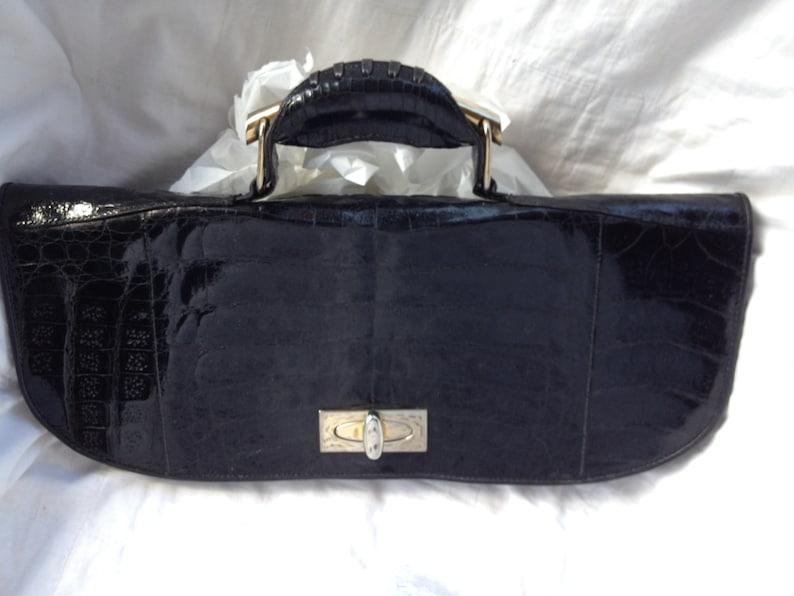 4eeebfbd50 Borsa vintage in pelle nera anni 70 borsa a mano | Etsy