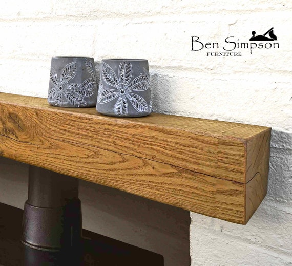 the latest 59259 47b5e Contemporary Floating Mantel Shelf Handcrafted Using Solid French Oak |  10cm Depth x 10cm Height | Ben Simpson Furniture