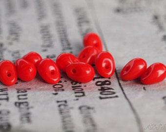 20 Red Scarlett 6mm Drops (N519)