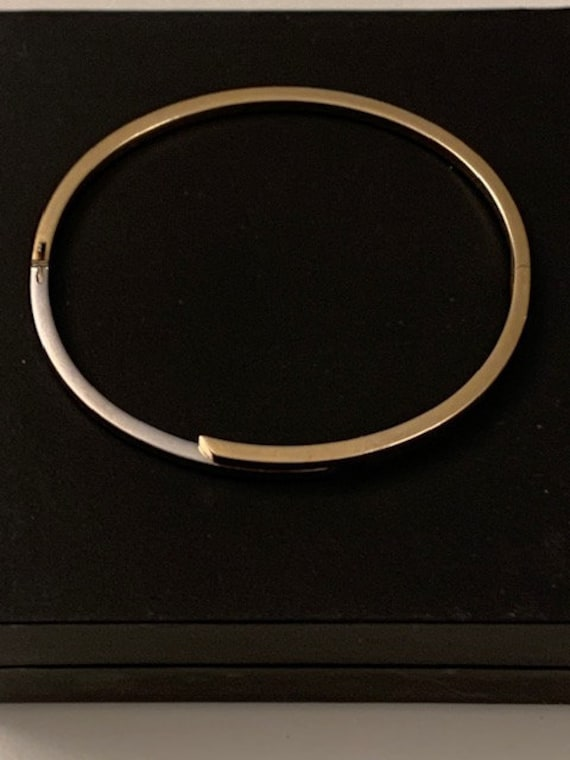 Modernist two tone gold bracelet