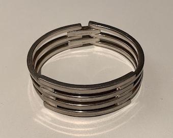 Orlando P. Orlandini sterling silver bangle bracelet