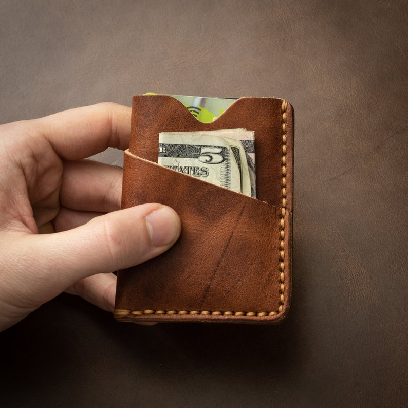 181985664c63 Handmade Leather Wallet, Slim Mens Wallet Minimalist, Front Pocket,  Engraved Monogram Wallet, Personalized, Card Holder