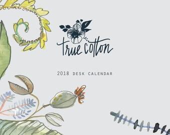 TrueCotton 2018 Desk Calendar - Clearance