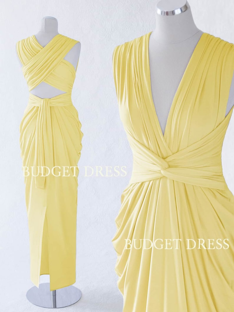667bedd709b Cornflower Yellow Infinity Dress Transformer Summer