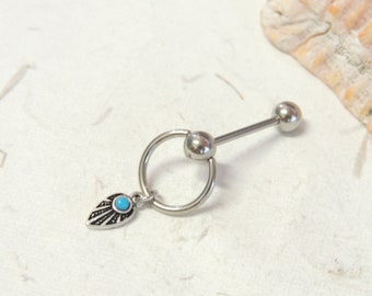 Fetish clit hood piercing jewelry insertable