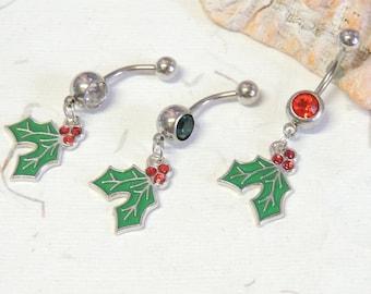 Mistletoe Navel Ring Etsy