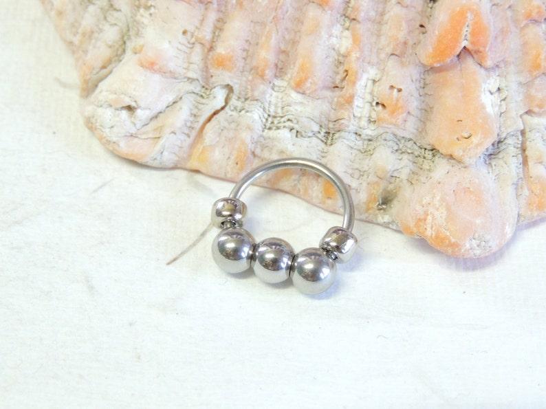 CBR Captive Bead Nose Ring Nose Jewelry Tragus Helix Cartilage Earring 16g Septum Horseshoe Nose Ring