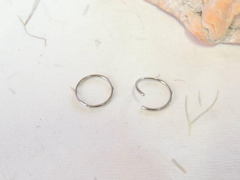 20g Endless Hoops Wire Wrapped Beaded Cartilage Hoop Earring Tragus Helix Orbital Hoop Earring Nose Hoop