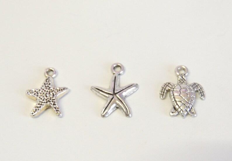 Daith Helix Orbital Hoop 16g 18g or 20g Hoop Endless Hoops Starfish Pearl Cartilage Hoop Earring You Choose Charm Gauge and Diameter