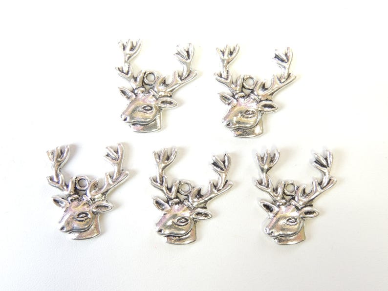 "Reindeer 1/""  Charm Christmas Tibet Silver Bookmark Scrapbooking Bracelet Pendant"