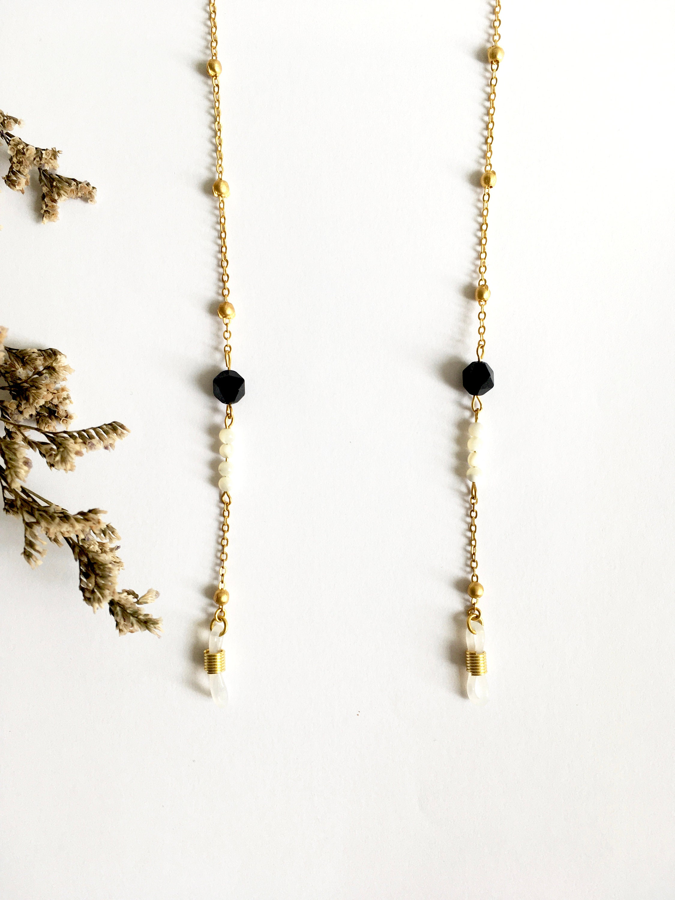 Chain of glasses Marialuisa in gilt brass 24 carat