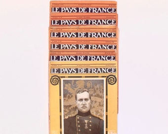 French Le Pays de France 1914 First World War Magazine - 8 copies Pictorial record Social History