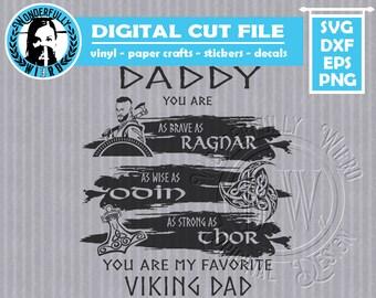 Viking Fathers Day single layer cut file SVG