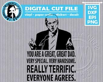 Greatest Dad Trump design SVG cut file