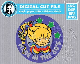 """Rainbow Brite """"Made in the 80's"""" cut file"""