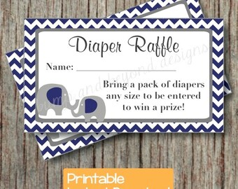 baby shower diaper raffle ticket printable baby shower party etsy
