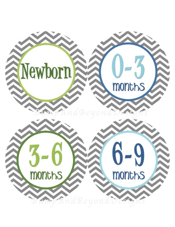 Baby Storage Labels Printable Baby Clothes Organization Tags
