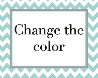 Change color for wall art