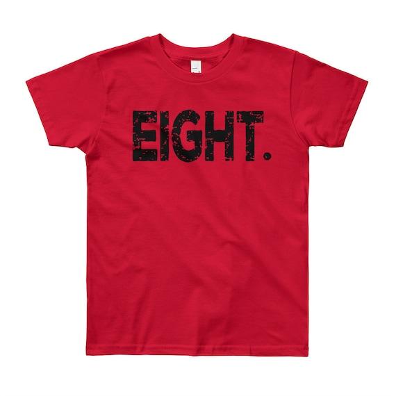 Boy 8th Birthday Party Shirt T Eight Year