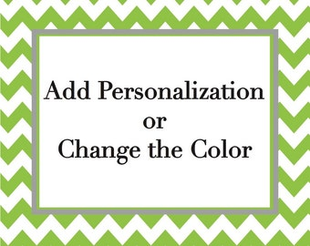Add personalization or change color for banners