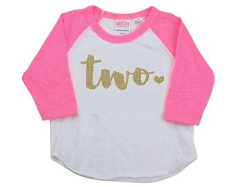2 Year Old Birthday Shirt Girl Two Year Old Birthday Shirt Birthday Girl Outfit Raglan Toddler Shirt 2nd Birthday Shirt 102