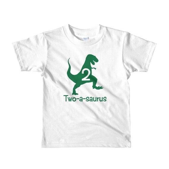 Second Birthday Boy Shirt Dinosaur 2nd T Two
