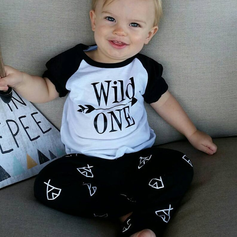 1st Birthday Outfit Boy Wild One First Shirt 1 Year