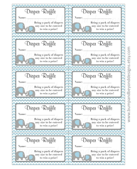 graphic about Diaper Raffle Tickets Printable identify Elephant Diaper Raffle Tickets Quick Obtain Printable Raffle Tickets Boy or girl Shower Powder Blue Gray Chevron pdf Printable Occasion Do it yourself Boy 14