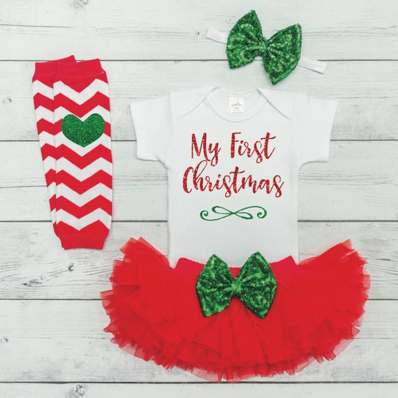 image 0 - My First Christmas Outfit Baby Girl Christmas Outfit Baby Girl Etsy