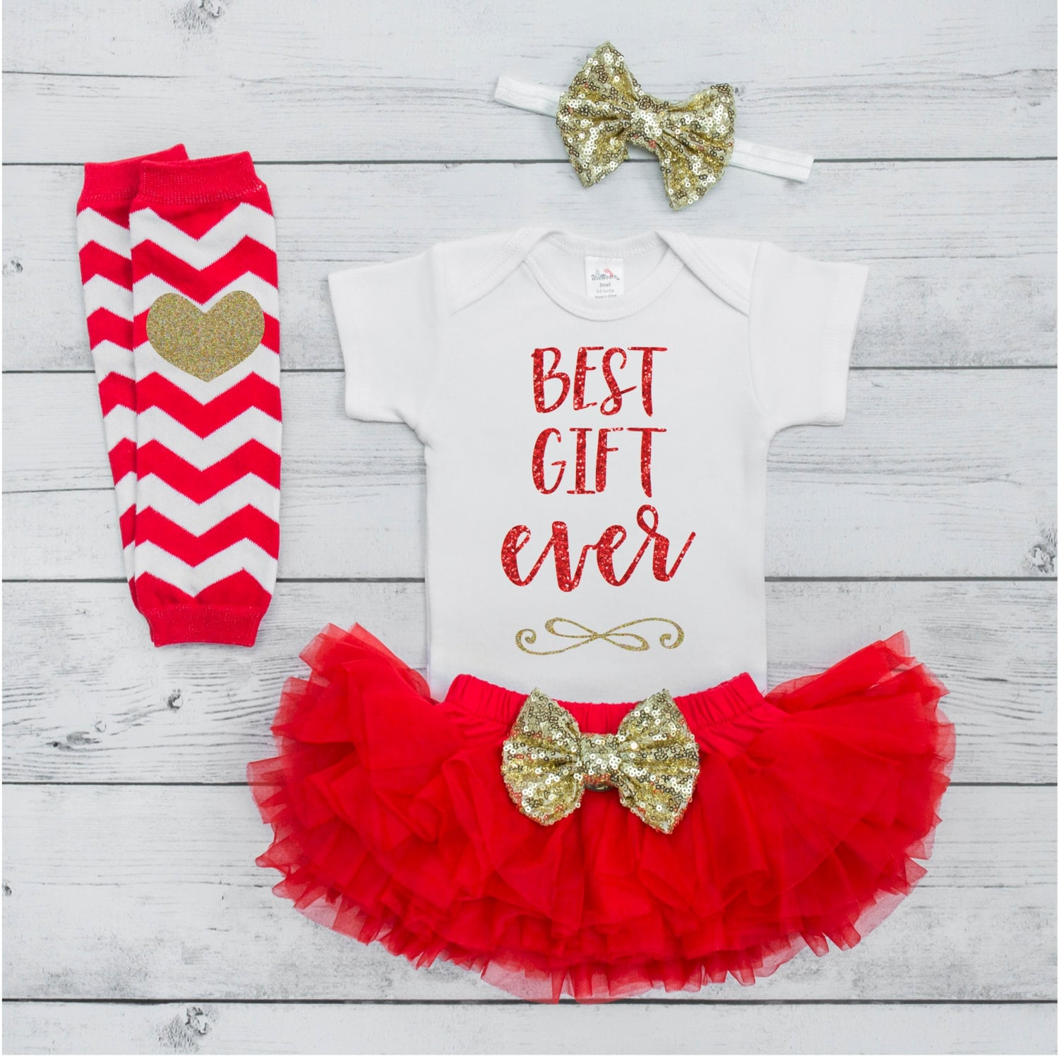 Baby Mädchen Christmas Outfit 1. Weihnachtsgeschenk Outfit am | Etsy