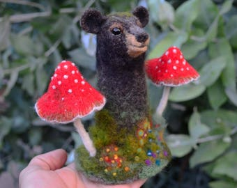 Needle Felted Totem Bear - by Harthicune