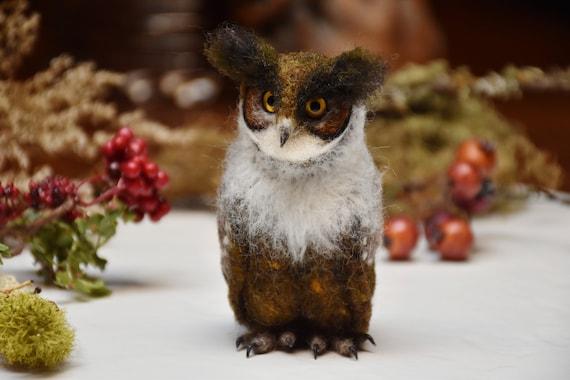 Needle Felted Baby Owl