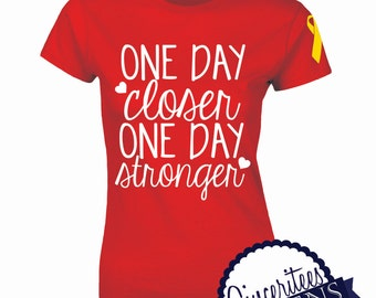 f34972299 One Day Closer Unisex Tshirt Military Wife Deployment shirt Military  support, One Day Closer, One Day Stronger, Military Support, Deployment