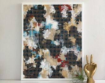 Samantha Abstract Fine Art, Original Art, Line Work, Modern Art, Original Painting, Wall Art, Canvas Art, Fine Art, Geometric Art