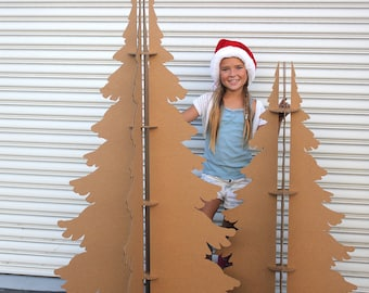 4 ft and 5 ft Tall Recycled Cardboard Christmas Trees