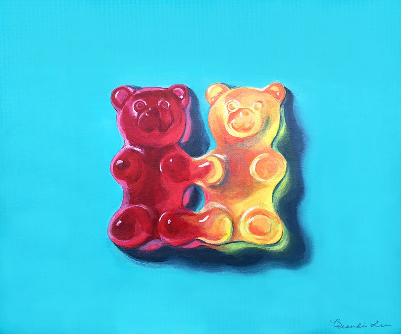 photograph relating to Gummy Bear Printable identified as Printable Gummy Undertake twins - Valentines Portray \