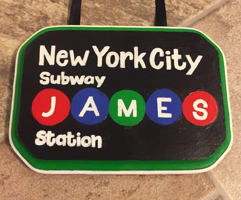 NYC Subway Door Hanger