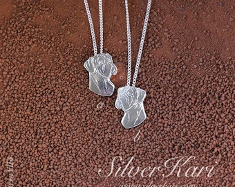 Boxer necklace in sterlingsilver