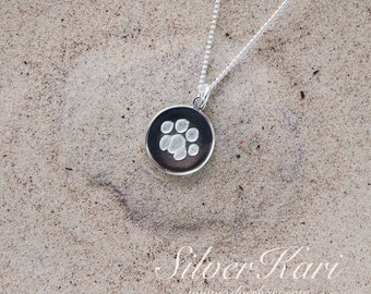 CatPaw, a pendant on a chain all in sterling silver
