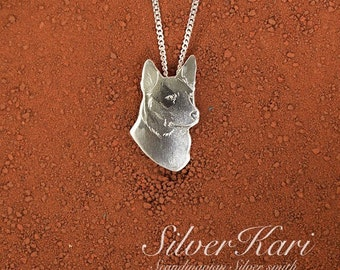 Australian Cattledog, a sterling silver necklace