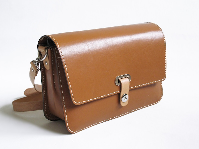 Brown Leather Crossbody Bag image 0
