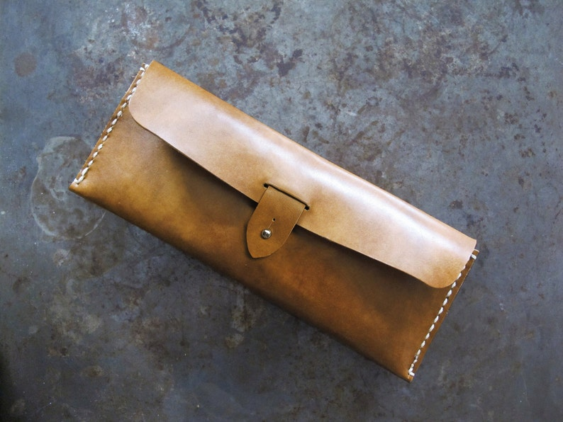 Brown Leather Pencil Case/ Multi Pouch/ Hand-stitched/ image 0