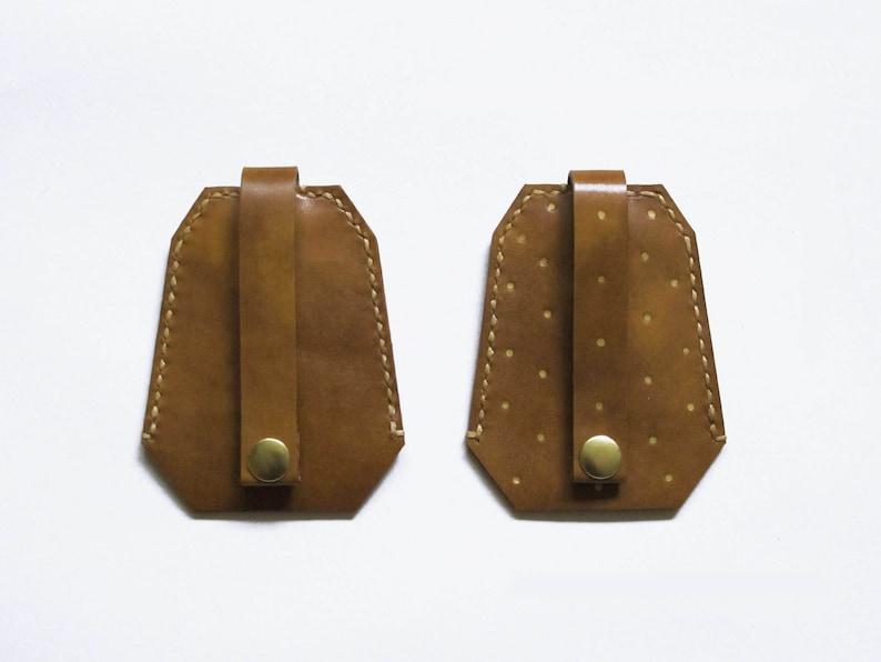 Brown Leather Key Holder Brown Leather Tassel Key Holder image 0