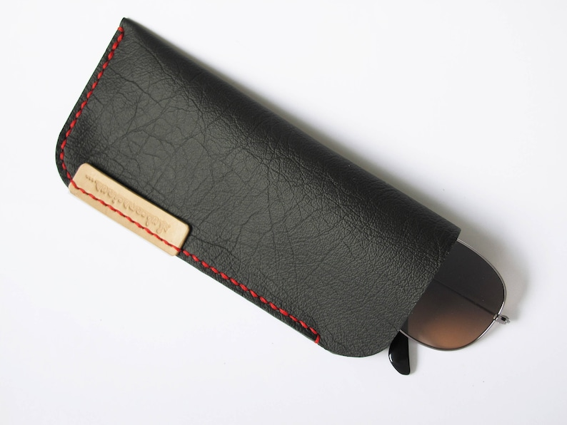 Leather Eyewear Sleeve Leather Sunglass Case Soft Leather image 0