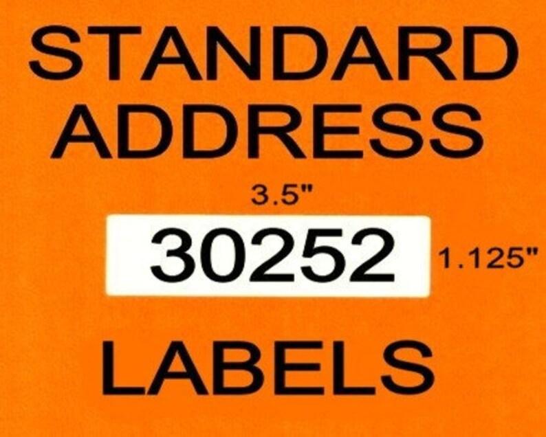1 Roll Address Labels fits DYMO 30252 - BPA Free