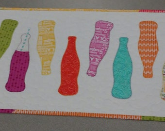Pop Art quilted table runner