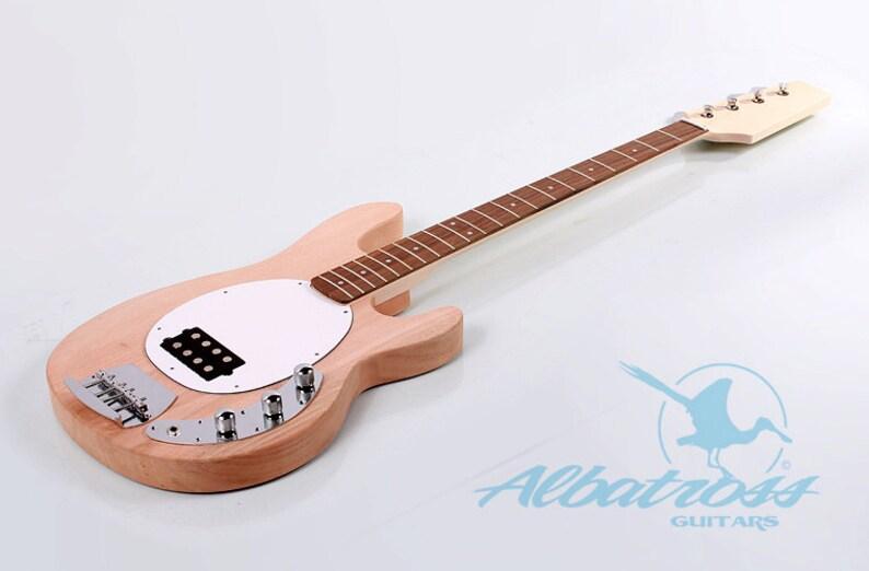 DIY Electric Bass Guitar Kit Bolt On Mahogany Body and Neck Albatross BK026