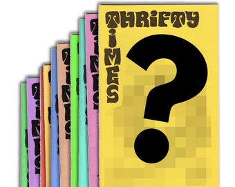 Thrifty Times - 10-Issue Sampler Bundle - A Zine about Thrifting