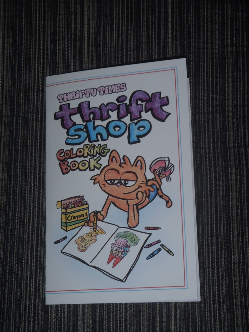 Thrifty Times Thrift Shop Coloring Book image 0